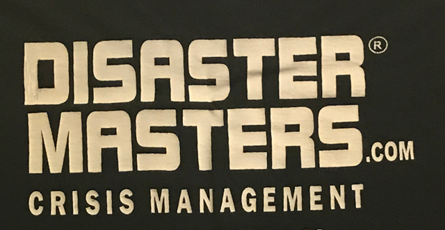 DISASTER MASTERS on custom t-shirt